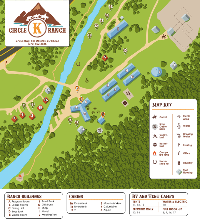 Map of Grounds | Circle K Ranch